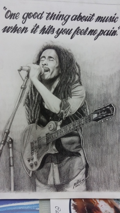 Learn Bob Marley Pencil Drawing Step by Step Bob Marley Color Pencil Drawing — Steemit Image