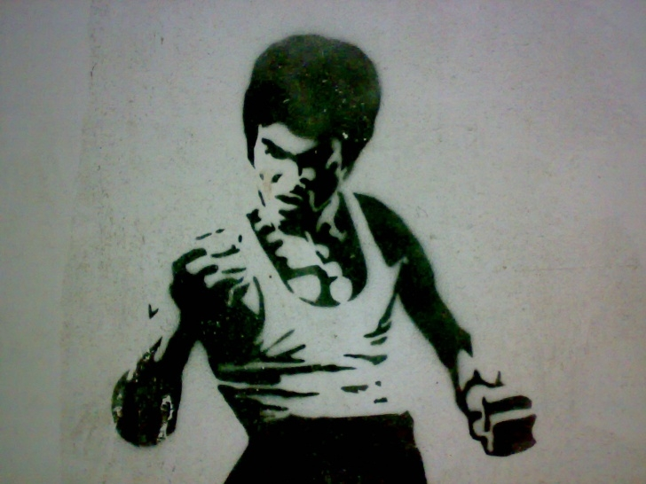 Learn Bruce Lee Stencil Step by Step File:bruce Lee Stencil - Wikimedia Commons Pictures