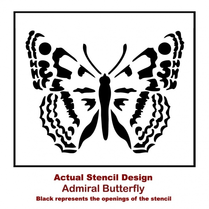 Learn Butterfly Stencil Art Simple Admiral Butterfly Wall Stencil - Butterfly Stencils For Walls, Funriture,  And Diy Crafts! Photo