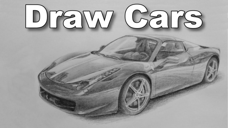 Learn Car Pencil Drawing Easy How To Draw A Car Ferrari Pencil Drawing Time Lapse Tutorial Image