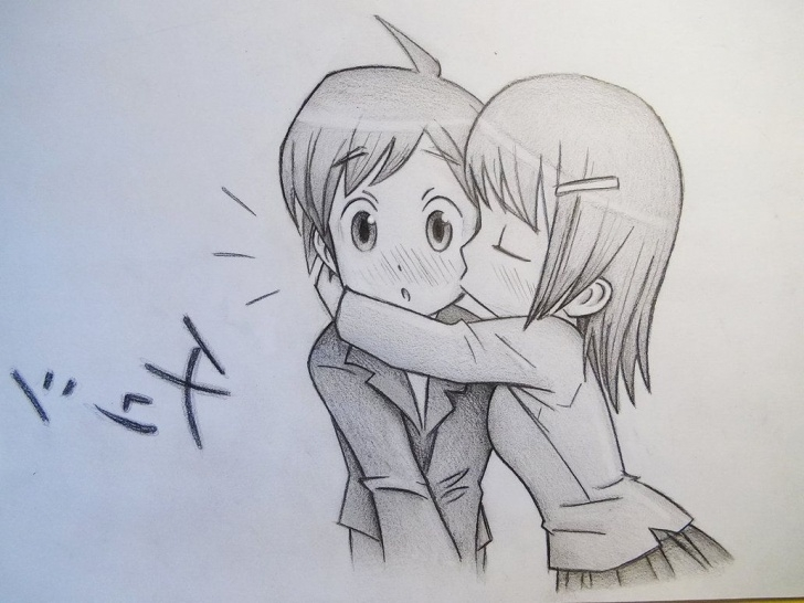 Cute Couple Pencil Drawing