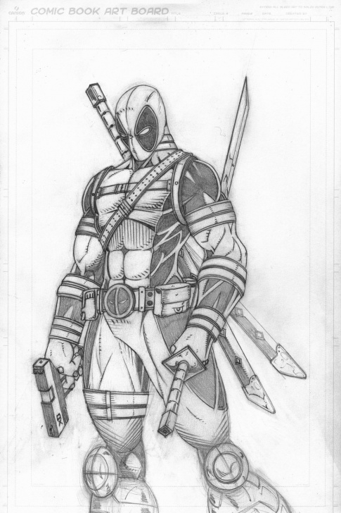 Learn Deadpool Drawing In Pencil Techniques for Beginners Deadpool Drawing In Pencil Full Body At Paintingvalley | Explore Picture