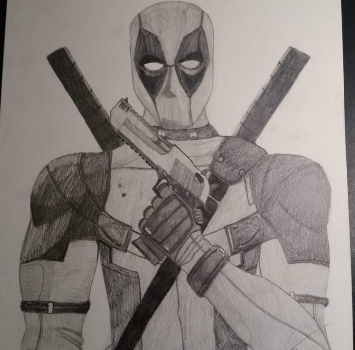 Learn Deadpool Pencil Sketch Ideas Drawing Deadpool- Pencil Drawing |Otapanthorajr. | Art@anime Amino Photos