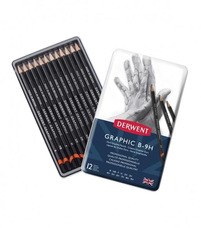 Learn Derwent Graphic 12 Tutorials Derwent Technical Graphite Pencil Set 12/pkg Pic