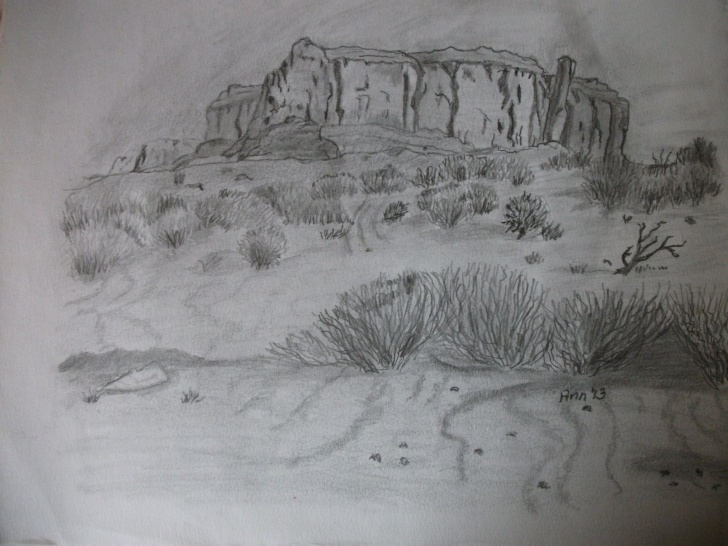 Learn Desert Pencil Drawing Techniques for Beginners Desert Scene--Pencil Drawing | My Art Gallery In 2019 | Pencil Pictures