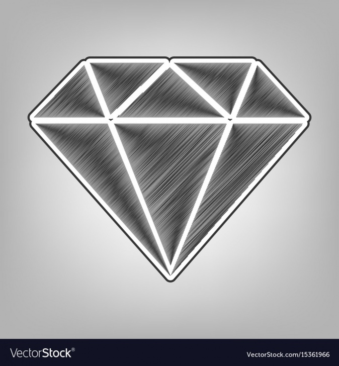 Learn Diamond Pencil Drawing Tutorial Diamond Sign Pencil Sketch Pictures