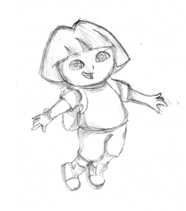 Learn Dora Pencil Drawing Techniques Sketch Of Dora :) | Cartoons And Superheroes In 2019 | Sketches Photos