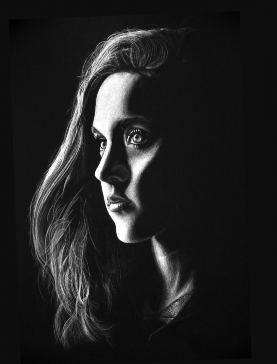 Learn Drawing On Black Paper With White Charcoal Simple White Charcoal - A Seriously Underrated Medium. | Art In 2019 | Art Picture