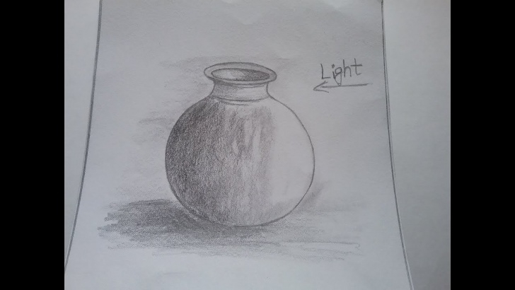 Learn Easy Still Life Pencil Shading Techniques How To Draw A Pot With Basic Shapes, Pot Pencil Shading For Kids, Stilllife  , Drawing Pictures