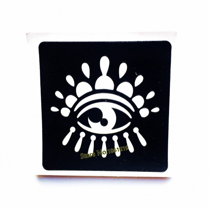 Learn Eye Stencil Art Courses Us $0.63 8% Off|Indian Eye Fake Tattoo Stencil Woman Body Art Airbrush  Painting Small Henna Tatoo Sticker Stencil Template For Cream Cone-In  Tattoo Pics