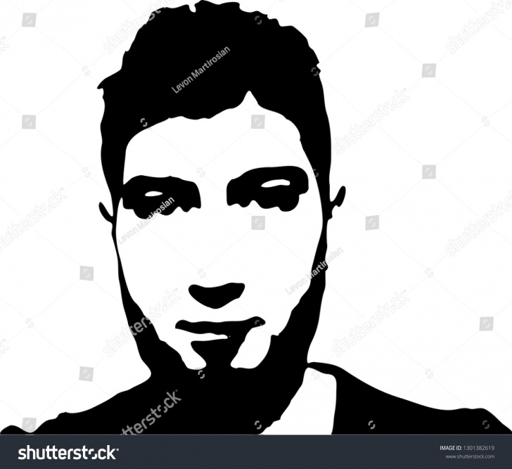 Learn Face Stencil Art Free Graffiti Stencil Face Young Man Beard Stock Vector (Royalty Free Photos