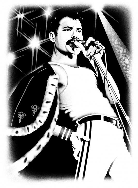 Learn Freddie Mercury Stencil Art Lessons Freddie Mercury Illustration ~ Ali Hansen Illustration Pics