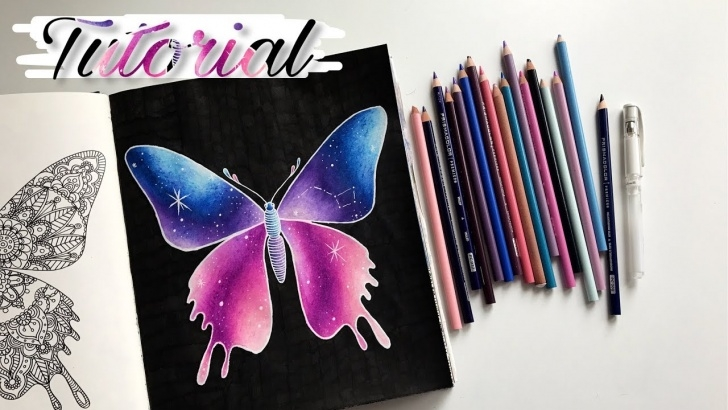 Learn Galaxy Drawings With Colored Pencils Techniques for Beginners Tutorial: Easy Galaxy With Colored Pencils Images