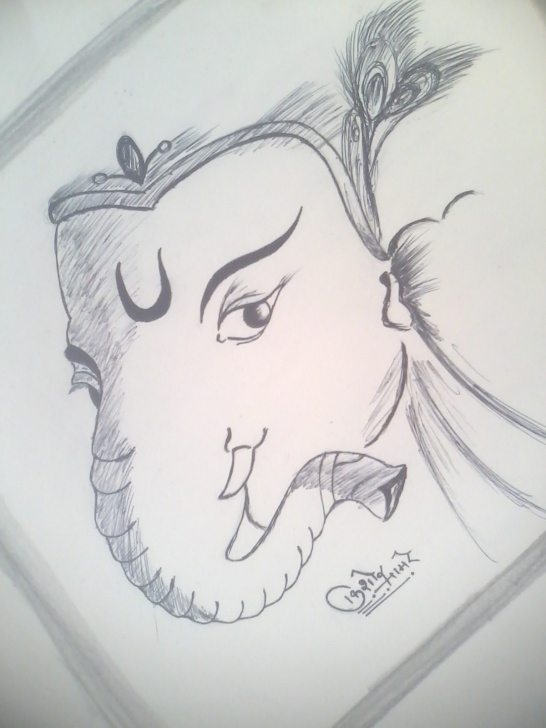 Learn Ganpati Pencil Sketch Lessons Pencil Sketch Of Ganpati Bappa | Desipainters Image