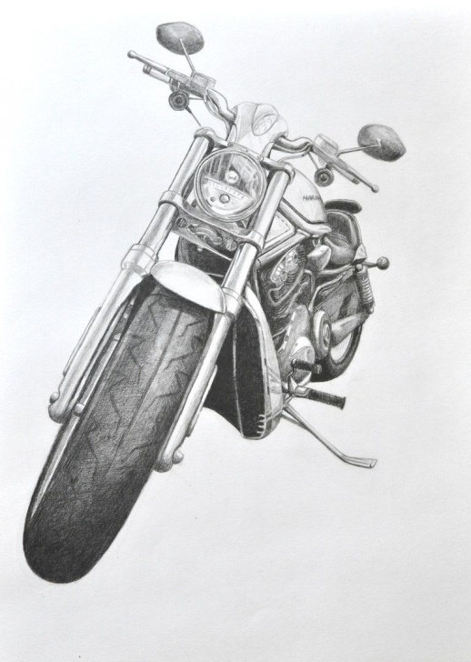 Learn Harley Davidson Pencil Drawings Tutorials Harley-Davidson V-Rod, My Art, Pencil, Motorcycle Drawing Picture