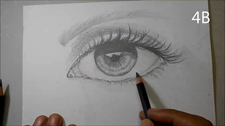 Learn Hb Pencil Sketch Easy How To Draw A Realistic Eye With Derwent Sketching Pencils Hb, 2B, 4B Photo