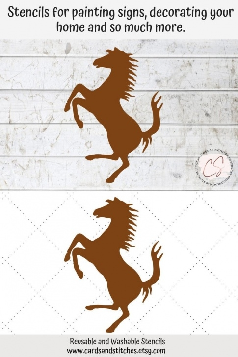 Learn Horse Wall Stencils For Painting Ideas Horse Stencil - Great For Wood Signs, Walls And Shirts - Stencils For  Painting - Diy Fabric Stencils Photos