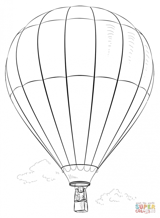 Learn Hot Air Balloon Pencil Drawing Ideas Hot Air Baloon | Super Coloring | Pencil Drawings | Balloon Painting Image
