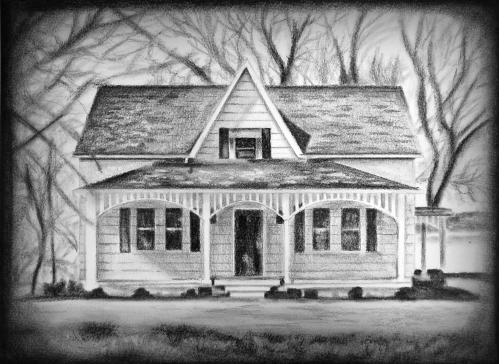 Learn House Drawing Pencil Tutorial House Drawing, Housewarming Gift, House Portrait, Architectural Drawing,  Custom House Sketch, Charcoal Drawing, Pencil Sketch, Custom Art Photo