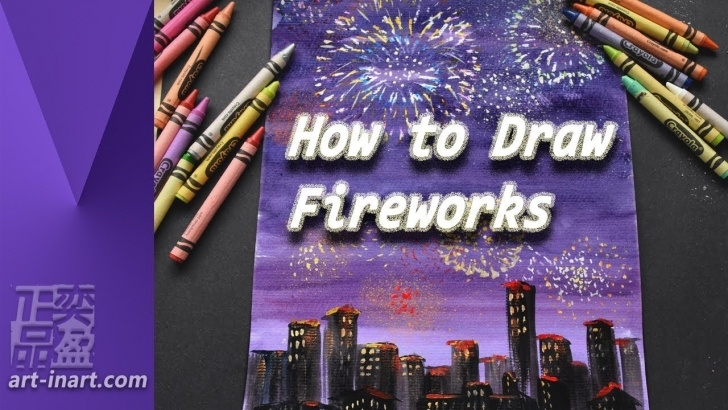 Learn How To Draw Firworks With Color Pencils Step by Step How To Draw Fireworks Image