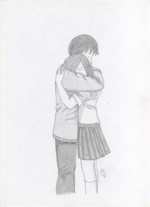 Learn Hug Pencil Sketch Simple Cute Couple Hugging Drawing At Paintingvalley | Explore Image