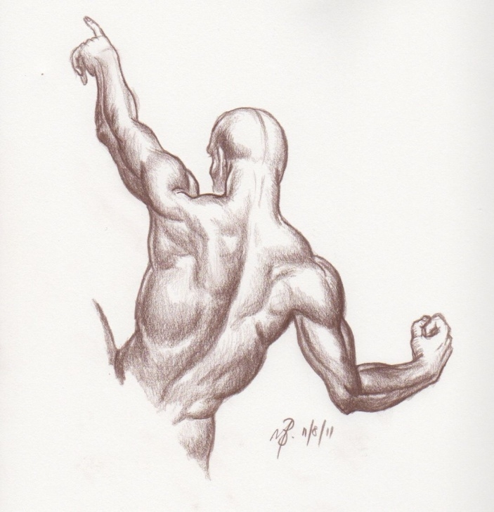 Human Body Pencil Drawing