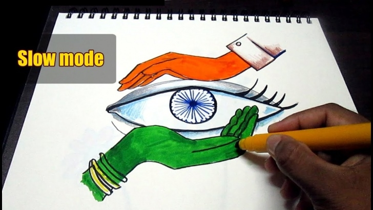 Learn Independence Day Pencil Drawing Ideas Creative Drawing (Happy Independence Day) For Kids Slow Mode Pics