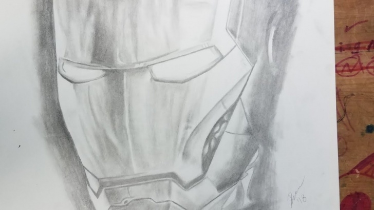 Learn Iron Man Pencil Sketch Lessons Iron Man Mask Helmet Freehand Pencil Drawing Photos