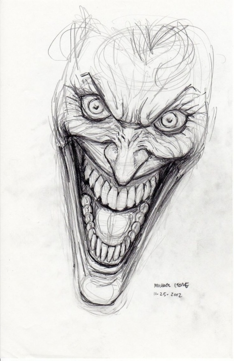 Learn Joker Pencil Sketch Courses Joker Pencil Sketch At Paintingvalley | Explore Collection Of Picture