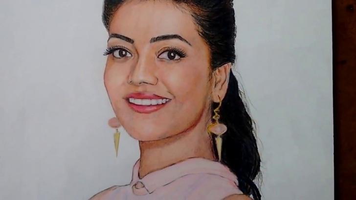 Learn Kajal Agarwal Sketch Techniques for Beginners Drawing Kajal Agarwal Pic