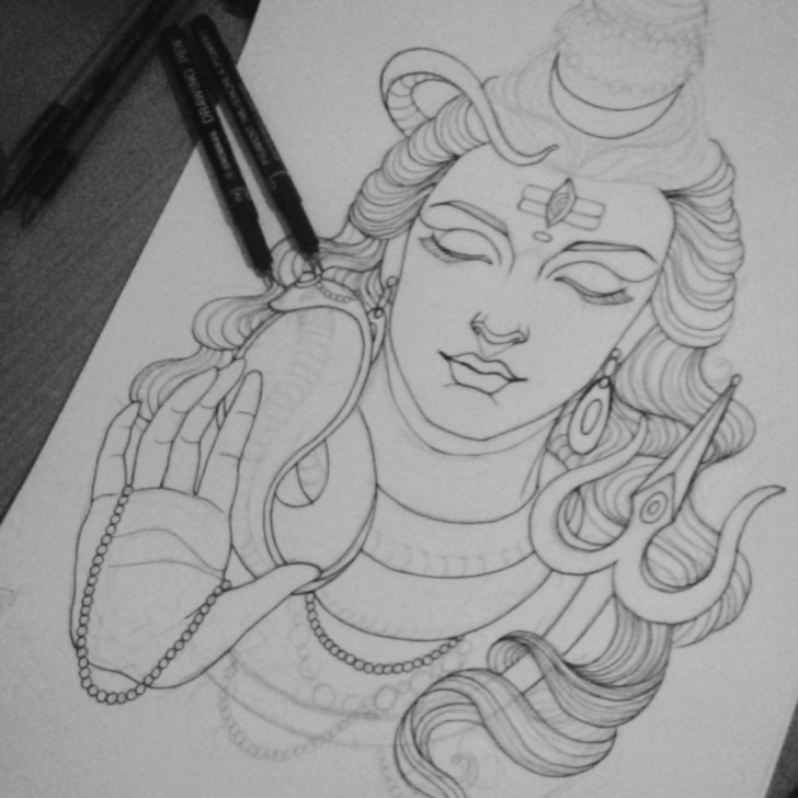 Learn Mahadev Pencil Sketch Techniques This Is Work In Progress Of Lord Shiva Mahadev. | Lord Shiva Mahadev Pictures
