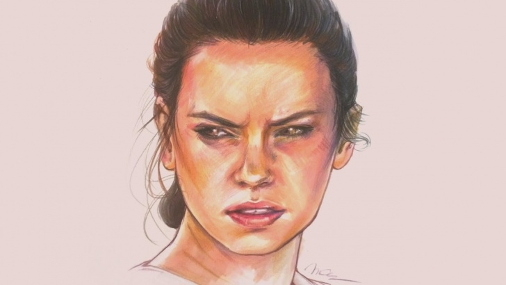 Learn Marker And Colored Pencil Drawing Techniques for Beginners Star Wars - Rey | Marker + Colored Pencil Drawing Images