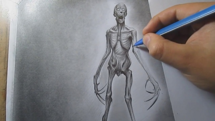 Learn Monster Pencil Drawing Free How To Draw A Monster With Pencil Step By Step Pics