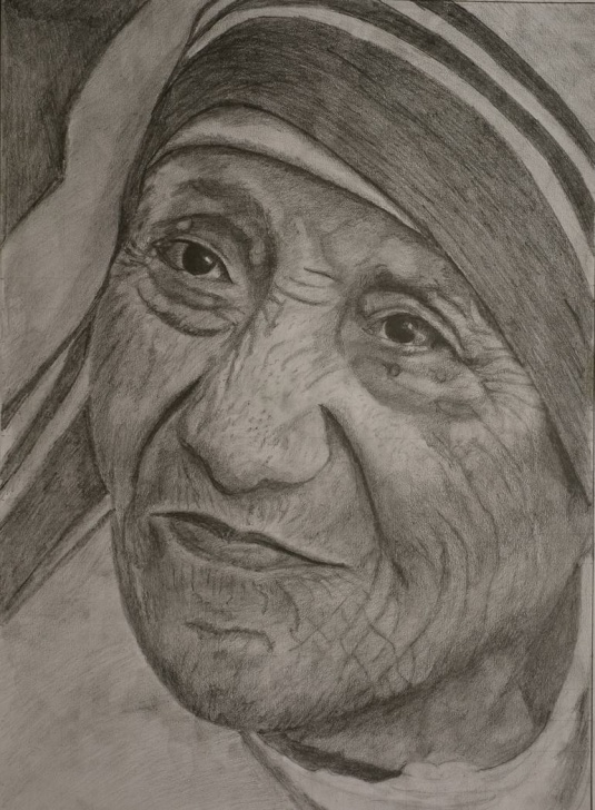 Learn Mother Teresa Pencil Drawing Techniques for Beginners Mother Teresa Pictures