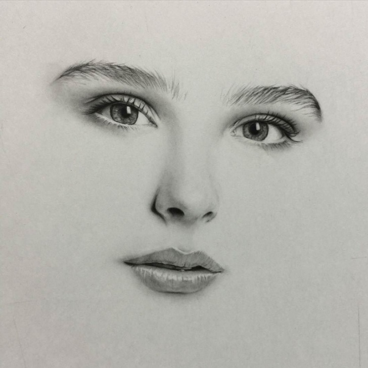 Pencil Art Girl Face