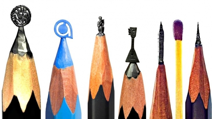 Learn Pencil Carving Pencils Techniques for Beginners Amazing Art On Pencil , Pencil Carving, Carving Micro Sculptures On A  Pencils Tip! Photo