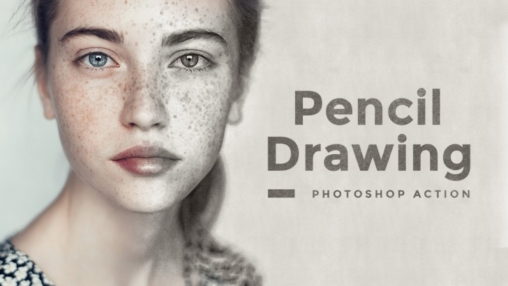 Learn Pencil Drawing Photoshop Easy Pencil Drawing Effect Photoshop Action Tutorial Pics