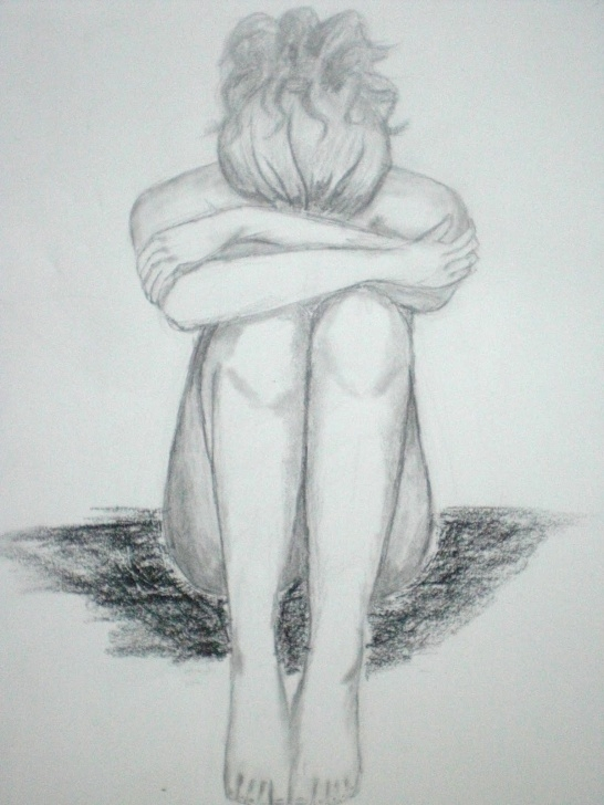 Learn Pencil Sad Drawing Ideas Sad Girl Sketch At Paintingvalley | Explore Collection Of Sad Pic