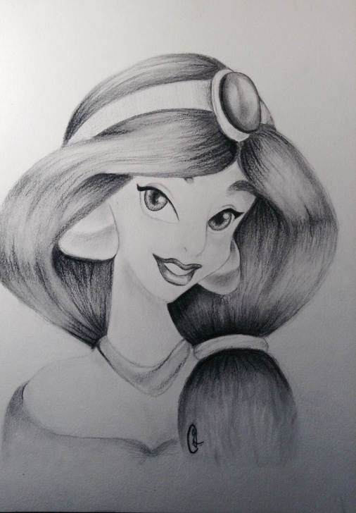 Learn Pencil Sketches Of Disney Princess Techniques for Beginners Aladdin Disney Pencil Sketch And Disney Princess Jasmine From Images