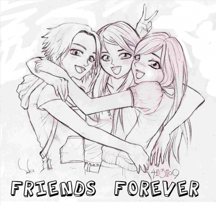 Learn Pencil Sketches Of Friends Forever Lessons Best Friends Forever Drawings At Paintingvalley | Explore Pics