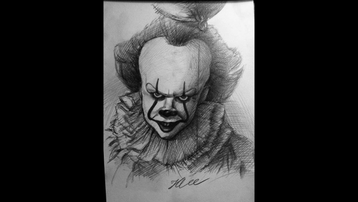 Learn Pennywise Pencil Drawing Simple Drawing Penny Wise With Pencil (It 2017) Ll Hlee Art Pic