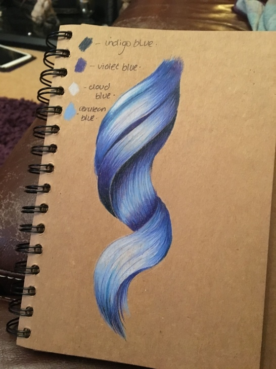 Learn Prismacolor Drawings Step By Step Ideas Prismacolor Pencils, Scrapbook Brown Paper (Hair) | Colour Pencil Image