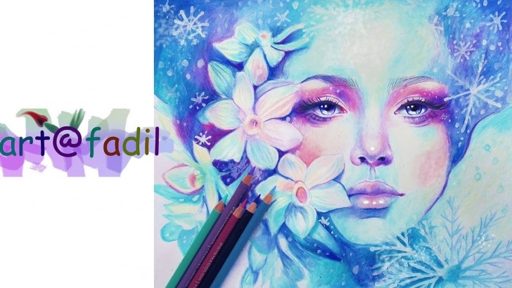 Learn Prismacolor Pencil Drawings Step by Step December Speed Drawing - Prismacolor Pencils Pictures