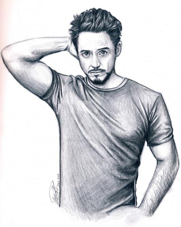 Robert Downey Jr Pencil Sketch