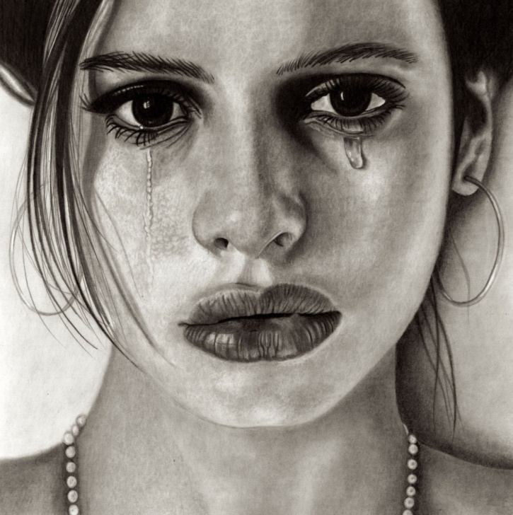 Learn Sad Portrait Drawing Step by Step Sad Beauty Drawing By Paul Stowe | Artmajeur Pics
