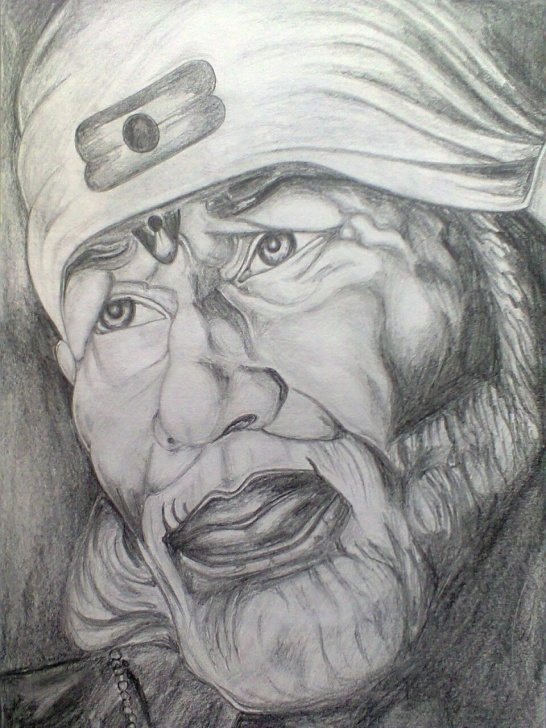 Sai Baba Pencil Drawing