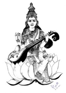Learn Saraswati Pencil Sketch Tutorial Saraswati Paintings Search Result At Paintingvalley Picture