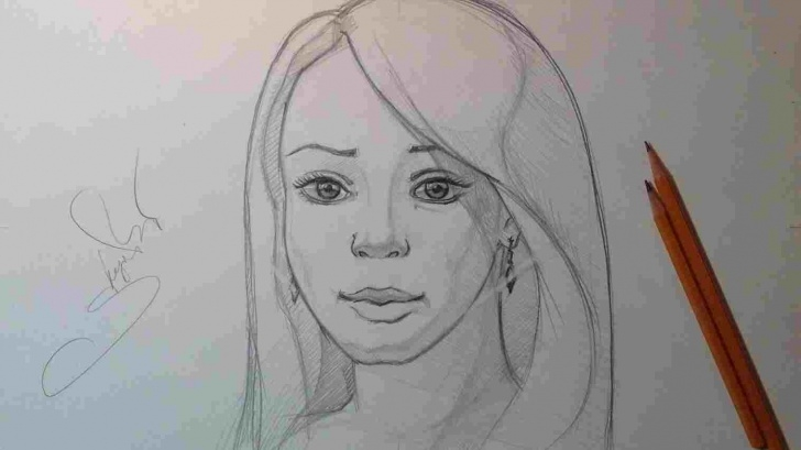 Learn Simple Pencil Sketch Of Girl Simple Pencil Sketching Girls Photo