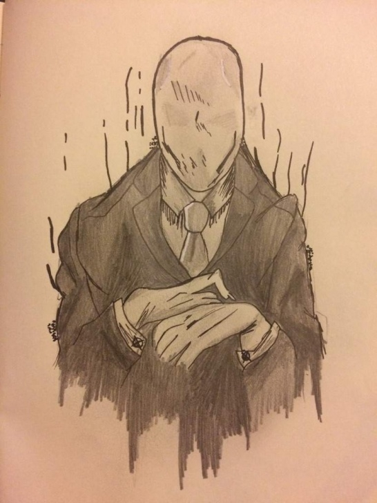 Slender Man Drawings In Pencil