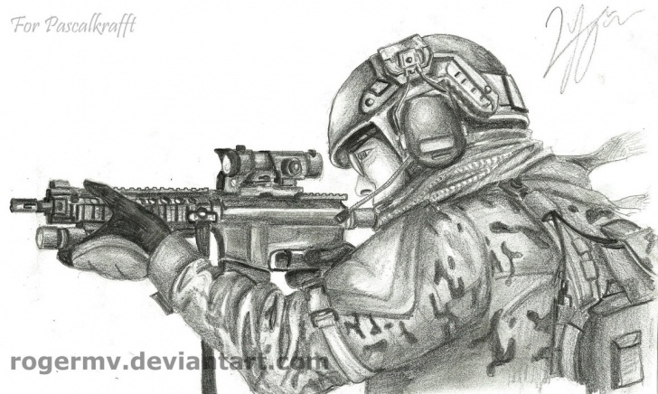 Learn Soldier Pencil Drawing Ideas Drawings Of Army Soldiers At Paintingvalley | Explore Collection Photo